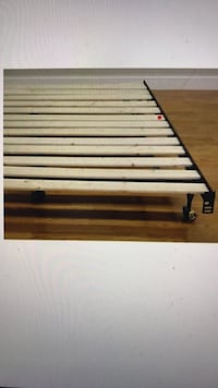 Full or Queen Metal Wood Slats Frame Bed, will Deliver ! Annandale