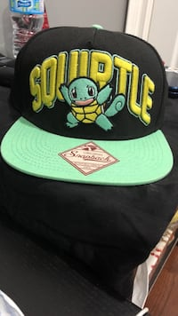 blue and black Squiprtle snapback