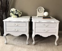 Shabby Chic French Provincial Bedside Tables Mississauga