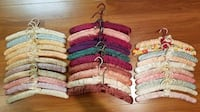 Lot of 31 Vintage Satin Padded Hangers in Assorted Colors EUC TAMPA