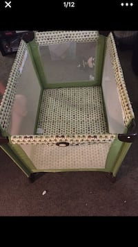 baby's green and white Graco pack n play Garden Grove, 92843