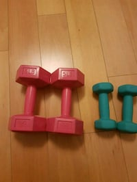 3 lbs and 5 lbs dumbbell weights