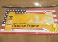 USA Flag license plate frame Vaughan
