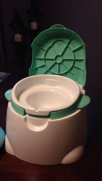 Green and white potty