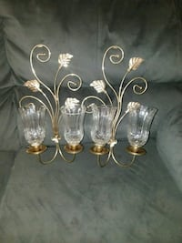 clear glass and gold-colored uplight chandelier Levittown, 19054