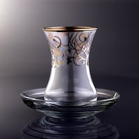 clear glass vase with white ceramic bowl Los Angeles