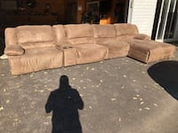 Large sectional, 188 inches. All five piece are separate. Freshly steam cleaned!  2 years old. Extremely minor wear and tear.  All 4 seating pieces recline Prospect, 40059