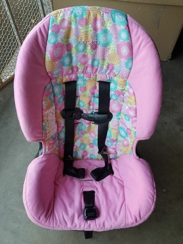 Cosco Pink Flowers Car Seat