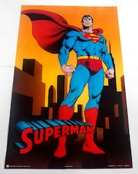 SUPERMAN POSTER FROM 1989 DC COMICS VINTAGE AND RARE! Toronto