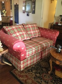 Red, green,light gold with reversable pillows 2 loveseats @150.00 each Lodi, 95240