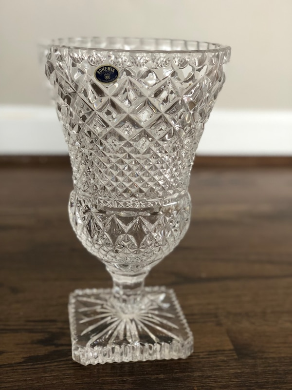 Crystal Vase - 11 inches