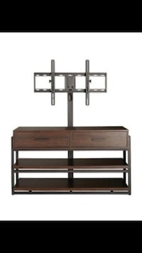 Threshold 3 in 1 TV Stand with flat tv mount Wood Dale