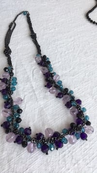 blue and purple beaded necklace Toronto, M2J 1K2