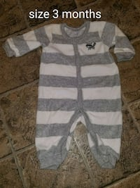 white and gray stripe long-sleeved onesie Shippensburg, 17257