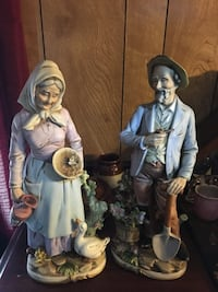 two woman and man ceramic figurines Manchester, 03103
