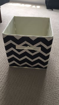 Black and White Chevron Foldable Storage Cubes Minneapolis, 55408