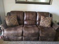 brown leather 3-seat sofa Lubbock, 79423