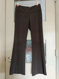 Women 5% spandex brown stripe pants size 3