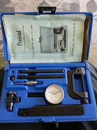 blue and black Makita power tool set in case