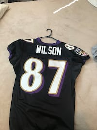 Authentic Game Worn Baltimore Ravens Jersey Black #87 OBO!!! Springfield, 22153