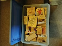 50 assorted rubber stamps Pitt Meadows, V3Y 2B1
