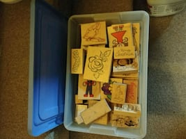 50 assorted rubber stamps