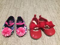women's two pair of red and pink flats Edmonton, T5W 4M8