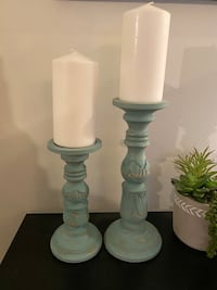 Blue Candle Sticks