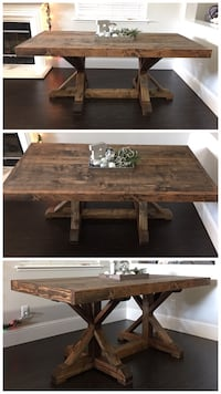6FT x 3FT Solid Wood Rustic Farm House Dining Table