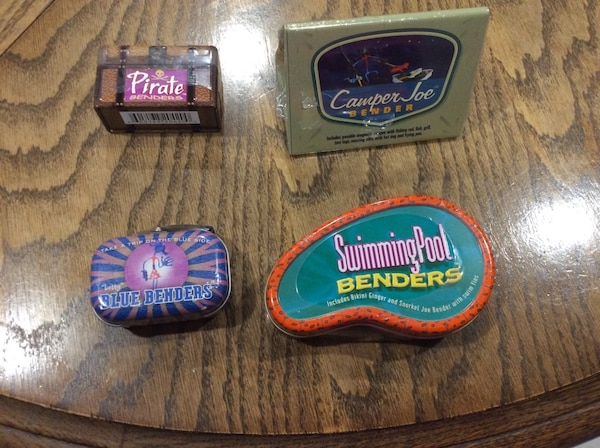 Collection of new, still sealed hog wild benders, these are rare and some of the originals from 2001-06, bendable, posable, cute storage tins