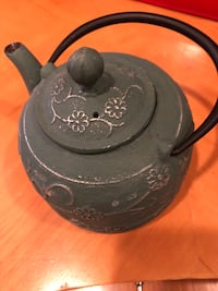 Green color cast iron tea pot with strainer for tea leaves. To pick up in Chantilly. Very sturdy and decorative. Cash only please. In excellent condition. Pick up in Chantilly Chantilly, 20151