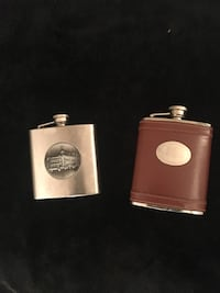 brown and stainless steel flasks 2334 mi