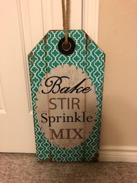 Turquoise and white wooden wall decor 1125 mi