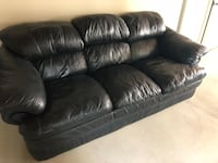 Black leather sofa Fairfax, 22030