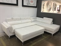 Modern sectional with adjustable headrest and storage. Brand new. Ottoman $150 extra. Richardson, 75082