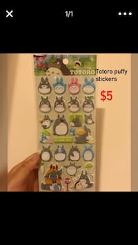 My neighbor totoro puffy stickers Lawrenceville, 30044