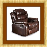 Burgundy recliner chair free delivery Ashburn, 20147
