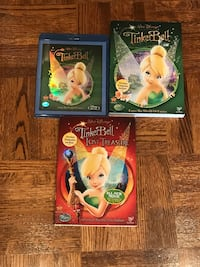 Tinker bell DVD & Blueray movies all 3 for $10  Vaughan, L4H 1R9