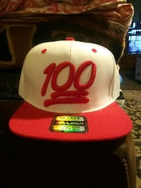 white and red fitted cap Fresno, 93702