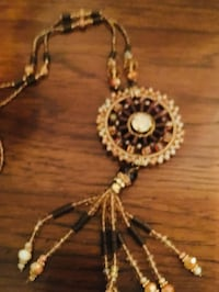 Cato's Beaded Aztec Style Necklace. In good condition .