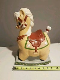 Vintage Rocking Horse Ceramic Cookie Jar