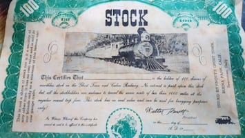 Vintage 1954 Stock Certificate.
