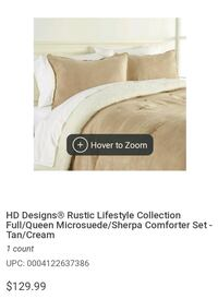 white and brown bed sheet set Milwaukie, 97267