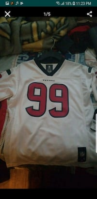 white and red NFL jersey Houston, 77091