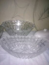 clear cut glass bowl with lid Des Moines, 98198