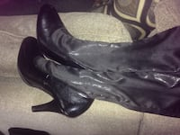 pair of black leather heeled boots Price, 84501