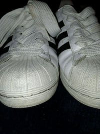 pair of white Adidas low-top sneakers South Gate, 90280