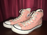 Pair of pink converse all star high-top sneakers Donna, 78537