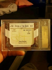 Heroes of the game tony gwynn auto Jessup, 20794