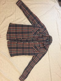 Blue, green, and red plaid button-up sport shirts St Catharines